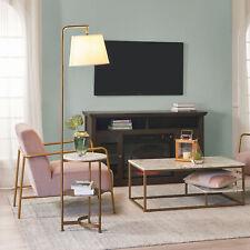 Versanora Tripod Floor Lamp USB Port & Table Brass/White Lighting VN-L00069-UK