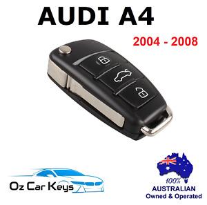NEW Audi A4 B7 Remote transponder  flip key fob  2004 2005 2006 2007 2008