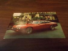 1970s Jaguar XJ-S Advertising Postcard