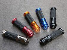 """7/8"""" Carbon Fiber Handlebar Hand Grips Bar Ends For Honda Motorcycle 5Color 22mm"""