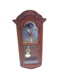 Howard Miller 620156 Fenton Wall Clock  Golden Oak Dual Cheme Quartz Need Repair