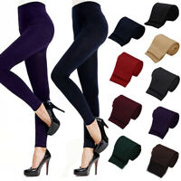 Lady Women Winter Warm Skinny Slim Leggings Stretch Pants Thick Footless Welcome
