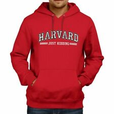 Harvard Law University Just Kidding Funny Pullover Hoodie Sweater Humorous S-3X