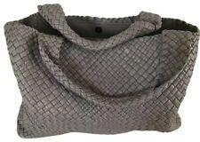 Falor Woven Leather Handbag - Grey