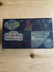 """Vintage The """"Cares"""" System Ryman London Card Index Wooden Box With Catch, Rare"""