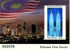 """Malaysia - """"ARCHITECTURE ~ PETRONAS TWIN TOWERS"""" Unique Hologram MS 1999"""