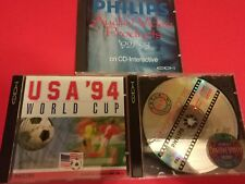 Lot Philips CD-i / USA 94 world cup / audio video products 92 93 / demonstration