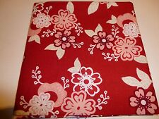 MoFat Quarter, Riley Blake, Raspberry, Vintage, Red, Floral, 100% cotton fabric
