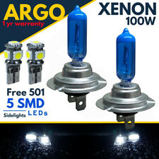 H7 100w Xenon Blanco Bombillas Halógenas Faro 499 Azul Luz Lateral Hid 12v LED 501