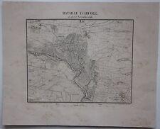 1831 BATAILLE D'ARCOLE Pelet Kaeppelin Verona Napoleone rara acquaforte original