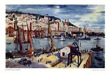 Hafen Lissabon Portugal XL Kunstdruck 1940 von Josef Steib * München † Cochem +