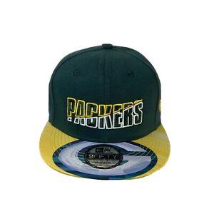 NEW ERA GREEN BAY PACKERS SCRIPT 9FIFTY SNAPBACK CAP / HAT Adjustable New