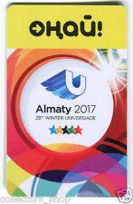 KAZAKHSTAN: TRANSPORTATION CARD ONAY ALMATY 2017 28th Winter Universiade subway