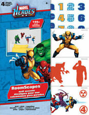 MARVEL SUPERHEROES wall stickers over 150 decals roomscapes room decor HULK +