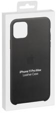 Apple iPhone 11 Pro Max Leather Case Black     MX0E2ZM/A NEU