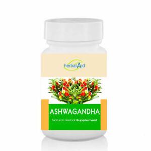 Ashwagandha 500mg Capsule Extract - Helps Stress Fatigue Anxiety Healthy Sleep
