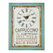 Vintage Shabby Distressed Design CAPPUCCINO  Home Kitchen Wall Clock
