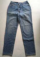 Women's Vintage Levis Light Wash Straight High Waist Denim Blue Jeans 13 Medium