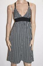 Blessed are the Meek Brand Black White Stripe Day Dress Size 10-S BNWT #SZ30
