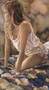 """Steve Hanks """"In her Thoughts """" Rare CANVAS  #84 /125 (Mint) Very RARE"""
