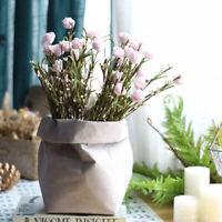 5 Sizes Washable Reusable Kraft Paper Bag Plant Flower Pot Storage Bag Container
