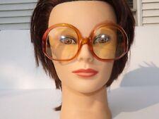 Vtg Christian Dior Optyl Eyeglasses Huge Square Amber Red Frames Germany 50-17
