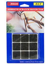 Fixon 25mm Black Felt Furniture Adhesive Scratch Protector 9 Pieces F1030