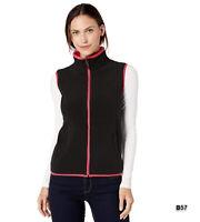 Amazon Essentials Women's Full-Zip Polar Fleece Vest Black Pink XS ~B57