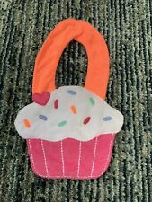 Carter's Pink Cherry Birthday Cupcake Baby Girl Terry Cloth Teething Bib