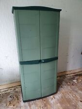 Tall Plastic Cupboard Storage Outdoor Garden Shelves Utility Cabinet Box COLLECT