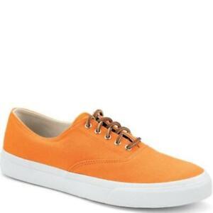 Sperry Top-Sider Unisex CVO Canvas Orange Sneaker 5M Men/6.5M Women