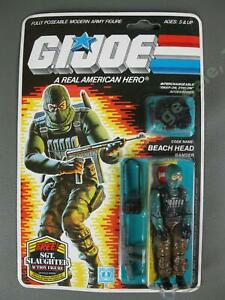 MOC Vintage 1986 GI Joe Army Ranger Beach Head v1 COMPLETE MIP Factory Sealed NR