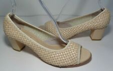 Sesto Meucci Size 8 M PERRINE Cream Leather Open Toe Heels New Women's Shoes