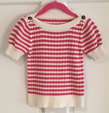 Girl's Pink and Cream Sweater Size 5/6 Adorable! Fantastic Condition