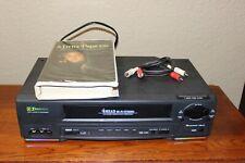 Emerson 4 Head Hi-Fi Stereo Vhs Player Recorder M# Ewv601A