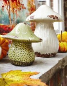 Small Green Ceramic Mushroom By Dunelm Decorative Pottery Ornament Toadstool