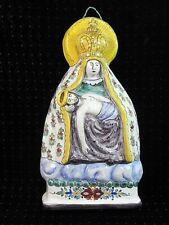 PLAQUE RELIGIEUSE FAIENCE ICONE VIERGE MARIE JESUS DESCENTE DE LA CROIX
