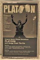 PLATOON  Original Motion Picture Soundtrack  Cassette  Atlantic 4-81742
