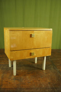 60er Vintage Mini Sideboard Bedside Cabinet Console Table mid-Century
