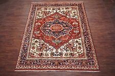 10X13 Persian Heriz Area Rug Hand-Knotted Wool Oriental Carpet (10 x 12.10)