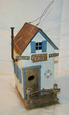 "10"" Hand Crafted Wood ""Bait Shop"" Bird House Style Nautical Decor"