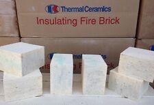 """K-20 Insulating Firebrick IFB 4.5"""" X 4.5"""" X 1.0 Thermal Ceramics Fire Brick K20"""