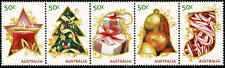 2009 AUSTRALIA Merry Christmas Strip 5 (2nd Issue) MNH