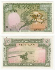 SOUTH VIETNAM 5 Dong Banknote (1955) P.2a - UNC.