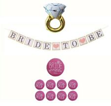Bride to Be Bachelorette Shower Party Decorations Kit-Balloon, Banner, Buttons