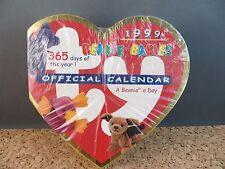 1999 Ty Beanie Babies Baby Official 365 Day Heart Desk Calendar A Beanie A Day!