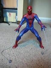 """2012 Marvel #98723 Motorized Web-Shooting SPIDER MAN 14"""" Action Figure By Hasbro"""