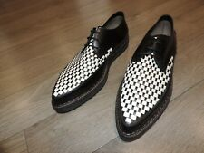 Costume National Homme Woven Hippie Creeper Shoes Black White Leather 11US