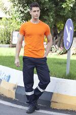 Pantalone Pantaloni Lavoro Uomo Multitasche Alta visibilità Abbigliamento Abiti