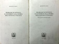 (Croce)  PROBLEMI DI ESTETICA E CONTRIBUTI ALLA STORIA DELL'ESTETICA ITALIANA